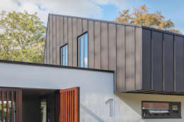 detail Villa Wierden - schipperdouwesarchitectuur: moderne Huizen door schipperdouwesarchitectuur