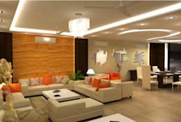 Elegant Living Space: classic Living room by 4 Lotus Interior