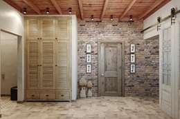 Нельзя забывать про коридоры: Коридор и прихожая в . Автор – Дизайн студия Алёны Чекалиной