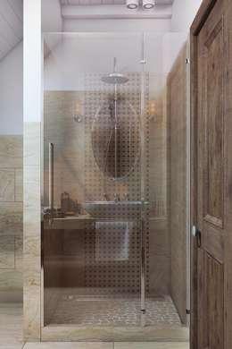 Эстетичная душевая кабинка: Ванные комнаты в . Автор – Дизайн студия Алёны Чекалиной