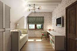 Комната для младшей дочери: Детские комнаты в . Автор – Дизайн студия Алёны Чекалиной