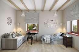 Дизайн гостевой комнаты: Спальни в . Автор – Дизайн студия Алёны Чекалиной
