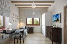 Панорама из окон: Спальни в . Автор – Дизайн студия Алёны Чекалиной