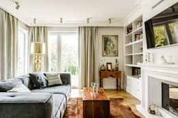 eclectic Living room by Anna Serafin Architektura Wnętrz