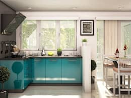 Ixia L-shaped modular kitchen: modern Kitchen by CapriCoast Home Solutions Private Limited
