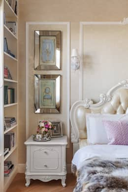 غرفة نوم تنفيذ design studio by Mariya Rubleva