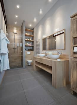 Baños de estilo escandinavo de design studio by Mariya Rubleva