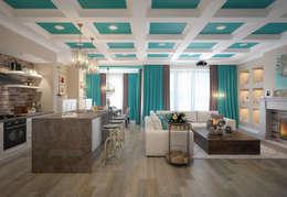 moderne Wohnzimmer von design studio by Mariya Rubleva