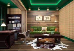 townhouse in modern style: modern Study/office by design studio by Mariya Rubleva