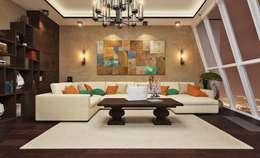 Salas / recibidores de estilo moderno por design studio by Mariya Rubleva