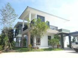 ผลงานสร้างบ้านอาศัย 2 ชั้น Contemporary Style by KL-Cons.:  บ้านและที่อยู่อาศัย by บริษัท เค.แอล.คอนสตรัคชั่น แอนด์ ซัพพลาย จำกัด
