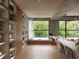 Projekty,  Domowe biuro i gabinet zaprojektowane przez 形構設計 Morpho-Design