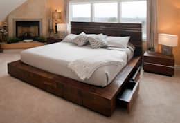 dormitorio exclusivo: Dormitorios de estilo rústico de Ale debali study