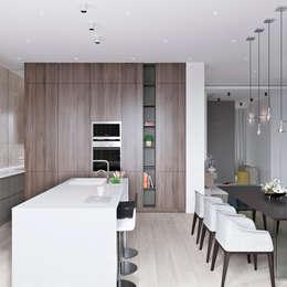 Cocinas de estilo minimalista por Студия Антона Сухарева 'SUKHAREVDESIGN'