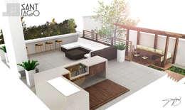 بلكونة أو شرفة تنفيذ SANT1AGO arquitectura y diseño