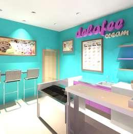 Vista interna lateral izquierdo: Tiendas y espacios comerciales de estilo  por Diseño Store