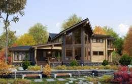Индивидуальный дом 470 м²: Дома в . Автор – GOOD WOOD