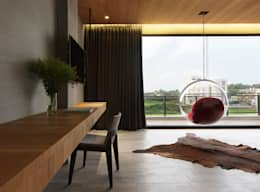 غرفة نوم تنفيذ 夏沐森山設計整合