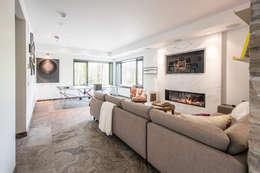 Mad River Chalet: modern Living room by BLDG Workshop Inc.