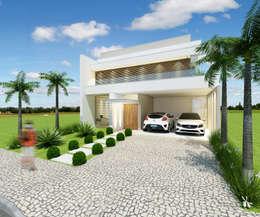 Casa Reserva Real Park - Paulínia: Casas modernas por Arquiteto Tales Miranda
