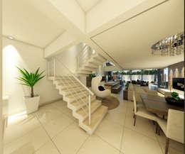 Casas de estilo moderno por Arquiteto Tales Miranda