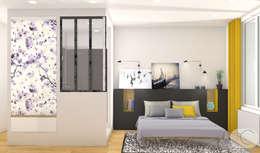 Rénovation d'un appartement - Lyon: Chambre de style de style Moderne par Camille BASSE, Architecte d'intérieur