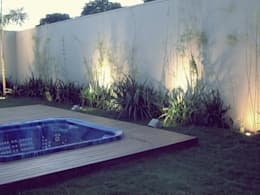 Jardines de estilo rústico por Cia de Arquitetura