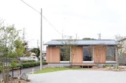 Projekty,  Pokój multimedialny zaprojektowane przez 横山浩之建築設計事務所