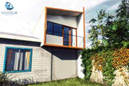 Casas unifamiliares de estilo  por NidoSur Arquitectos