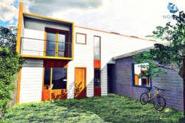CASA NH: Casas unifamiliares de estilo  por NidoSur Arquitectos