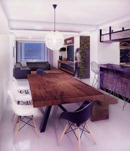 Loft Mil3 [León, Gto]: Comedores de estilo moderno por 3C Arquitectos S.A. de C.V.