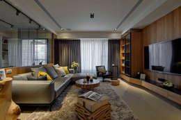 modern Living room by DYD INTERIOR大漾帝國際室內裝修有限公司