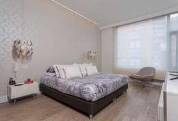 Apto Cr 2 - Cll 69: Habitaciones de estilo moderno por Bloque B Arquitectos