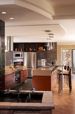 Benchscape: modern Kitchen by Lex Parker Design Consultants Ltd.