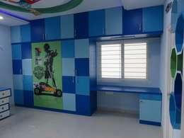 غرفة نوم تنفيذ Bluebell Interiors