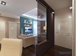 Дизайн-проект трехкомнатной квартиры 80 кв м в панельном доме: Коридор и прихожая в . Автор – Студия интерьера Дениса Серова