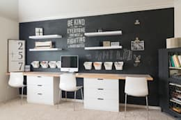 scandinavian Study/office by Urbanology Designs