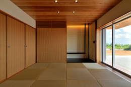 1階和室: プラソ建築設計事務所が手掛けたリビングです。
