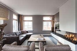 Projekty,  Salon zaprojektowane przez Bob Romijnders Architectuur & Interieur