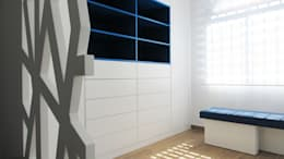 modern Nursery/kid's room by PL Architecture