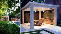 Entertaining Garden - Transitional Landscape Design:  Patios & Decks by Matthew Murrey Design