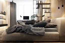 Зонирование пространства в интерьере спальни: Спальни в . Автор – U-Style design studio
