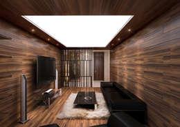 Salas multimedia de estilo moderno por 보운디자인