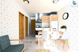 MA Edificio Residencial: Comedores de estilo moderno por NidoSur Arquitectos