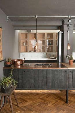 industrial Kitchen by deVOL Kitchens