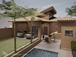 Casas de estilo rústico por Santos e Delgado Arquitetura e Construções