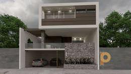 DISEÑO RESIDENCIAL: Casas de estilo moderno por planeacion y proyectos constructivos s.a de c.v.
