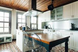Bilgece Tasarım – Aslı& Şamil Keser konut : modern tarz Mutfak