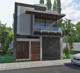 render del proyecto: Casas de estilo minimalista por Crearqtiva