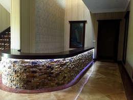 Pasillos y hall de entrada de estilo  por Mandalin Dizayn